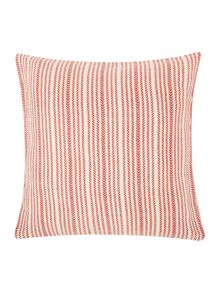 Gray & Willow Broken stripe cushion, red