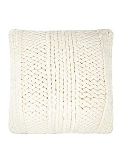 Giant rib cushion, cream