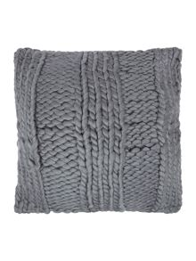 Giant rib cushion, grey