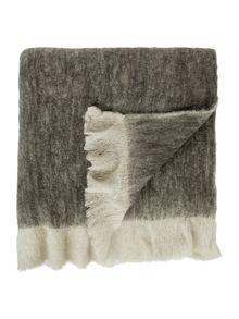 Faux mohair throw, grey