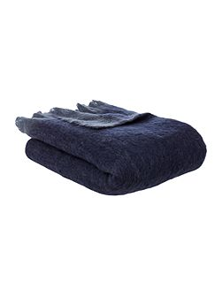 Faux mohair throw, blue