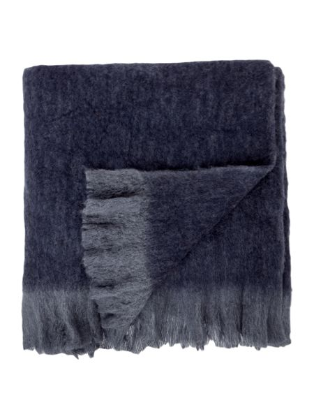 Gray & Willow Faux mohair throw, blue