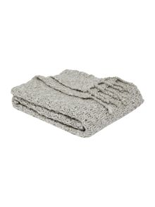 Basketknit throw, silver grey