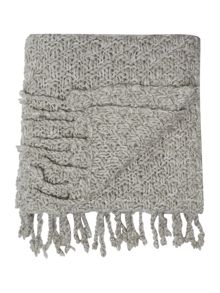 Gray & Willow Basketknit throw, silver grey