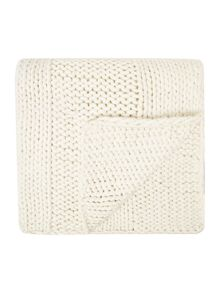 Gray & Willow Giant rib throw, cream
