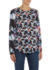 Armani Jeans Long sleeve jewel print top