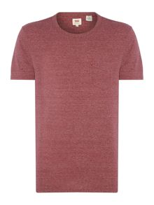 Regular fit one pocket marl t shirt