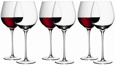 LSA Bar Red Wine Glass 750ml, Set of 6