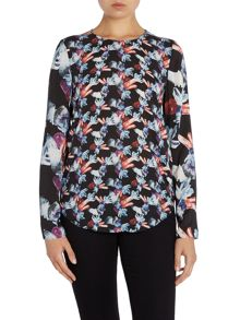 Long sleeve jewel print