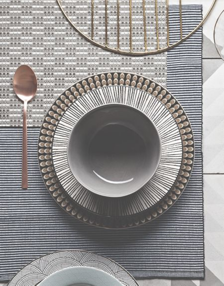 Gray & Willow Pinstripe placemats set of 4