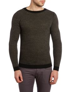 Benetton Textured Crew Neck Pull Over Jumper