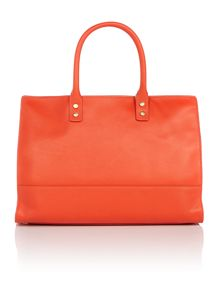 Daphne orange medium frame tote bag