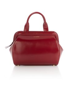 Paula red medium tote bag