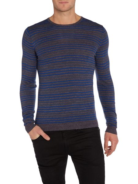Benetton Stripe Crew Neck Pull Over Jumper