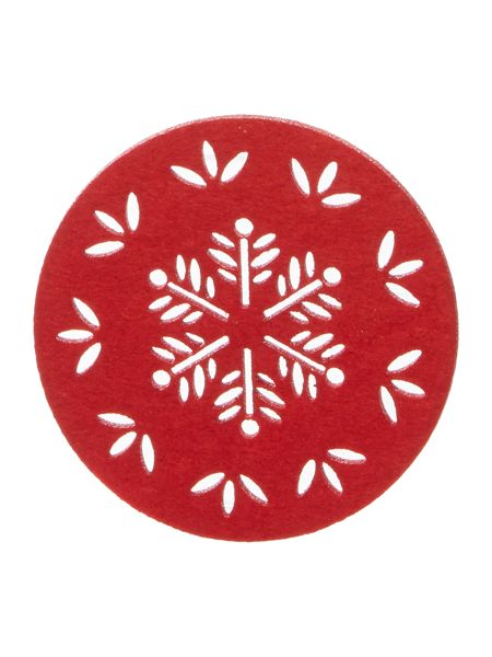 Linea Joy felt coasters set of 4