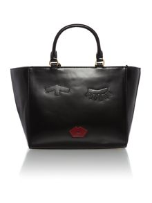 Casca black medium tote bag