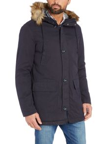Benetton Trim Hooded  Parka Coat