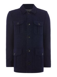 Benetton Button Overcoat
