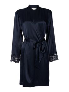 Ginia Ginia silk long sleeved gown with lace
