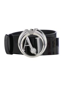 Black logo belt
