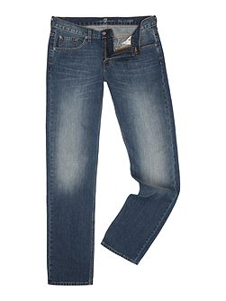 Straight Fit Wisconsin Blue Light Wash Jeans