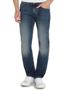7 For All Mankind Straight Fit Wisconsin Blue Light Wash Jeans
