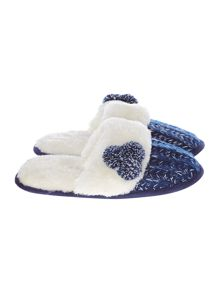 Dickins & Jones Knitted Slipper Mule