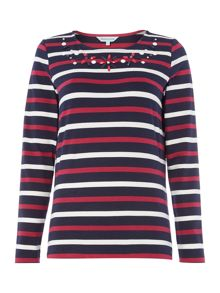 Dickins & Jones Embellished Breton Top