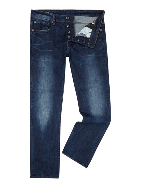 G-Star Defend Straight Med Aged Accel Jeans