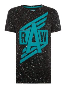 G-Star Relaxed Fit Duo Splatter Crew Neck T-Shirt