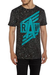 Relaxed Fit Duo Splatter Crew Neck T-Shirt
