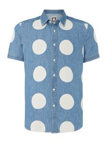 G-Star Landoh Dotted Classic Fit Short Sleeve Shirt