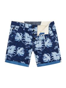 Bronson Straight Fit Hawaiian Print Shorts