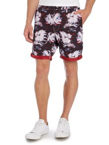 G-Star Bronson Straight Fit Hawaiian Print Shorts