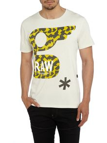 Glims Regular Fit Graphic Crew Neck T-Shirt