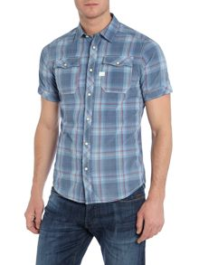 Landoh Slim Fit Short Sleeve Check Shirt