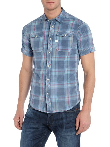G-Star Landoh Slim Fit Short Sleeve Check Shirt