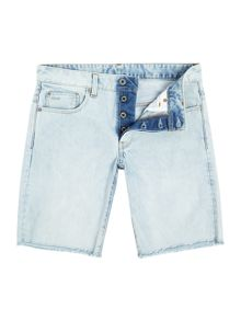 G-Star 3301 Light Aged Wisk Denim Shorts