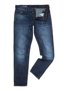 Holmer Tapered Dark Aged Blue Jeans