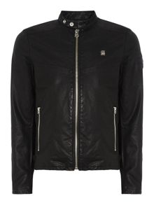 Elda Slim Fit Biker Collar Zip Up Jacket