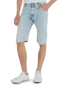 Arc 3D Light Aged Wisk Denim Shorts