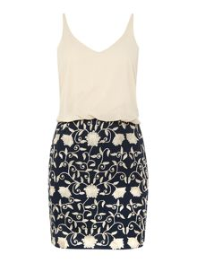 Lace and Beads Cami Top Embroidered Dress