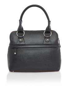 Pippa black small zip grab tote bag