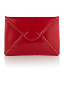 Lulu Guinness Catherine red enverlope clutch bag