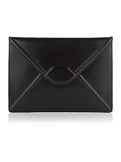 Catherine black enverlope clutch bag