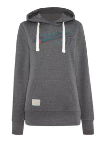 Pullover hooded sweat shirt