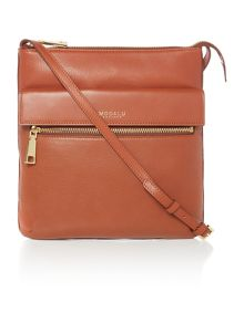 Erin tan pocket cross body bag