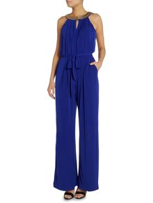 Vince Camuto Grecian style jumpsuit with embellished collar