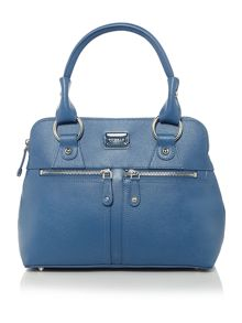 Pippa small blue zip tote bag