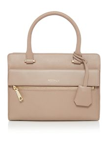Erin small neutral pocket tote bag